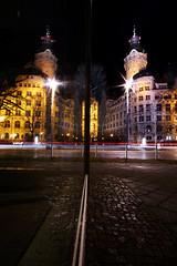 Leipzig at night (Tobias S aus L) Tags: leipzig nightphotography longexposure lightpainting reflextion lighttrail