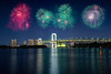 Tokyo bay city view and tokyo rainbow bridge with beautiful fireworks, Tokyo Japan (Patrick Foto ;)) Tags: architecture asia background bay beautiful bridge building business celebration city cityscape colorful concept december destination downtown dusk evening event famous festival fireworks harbor japan japanese landmark landscape light modern new night odaiba panorama panoramic place rainbow reflection scene sea sky skyline tokyo tower travel twilight urban view water waterfront year minatoku tōkyōto jp