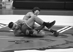 BRO-STA 165 2018-01-13 DSC_8365 bw (bix02138) Tags: brownuniversity brownbears stanforduniversity stanfordcardinal pizzitolasportscenter pizzitolasportscenterbrownuniversity providenceri january13 2018 wrestling sports intercollegiateathletics athletes jocks ©2018lewisbrianday 165pounds 165 jonviruet jaredhill