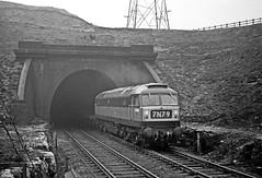 D1560.  Down freight Annesley Tunnel. 28 03 1964. (John-Sydney-Han) Tags: annesley class47 brushtype4 d1560 kirkby gcr greatcentral gc gcmainline ukrail