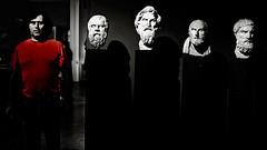 4+1 (t.horak) Tags: faces dark red 4 5 museum wise men beard greek ancient