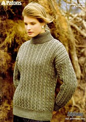 Unisex turtleneck knitwear (Mytwist) Tags: knitting pattern ladies aran sweater patons 3576 laraineh2004 knittingpattern sweatergirl outfit knitwear style modern love passion wife cabled knit handgestrickt