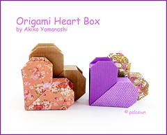 origami heart box (polelena24) Tags: origami heart valentine box twopiece