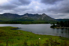 Lough Inagh (annalisabianchetti) Tags: lake lago connemara irlanda ireland europa travel clouds nuvole mountains montagne paesaggio landscape