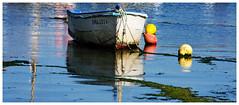 La barque du Guilvinec -  The boat of Guilvinec (diaph76) Tags: extérieur france bretagne guilvinec finistère bouées buoys barques boats bateau eaudemer seawater paysage landscape reflets reflections