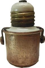 Dim-A-Lite light dimmer (Ken, KE1RI) Tags: dimalite wirt dimmer vintage antique brass porcelain