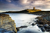 In Between (Chris Lishman) Tags: dunstanburgh castle dunstanburghcastle northumberland iconic coast coastal sea northsea dusk light polariser seascape embleton rocks saddlerock thesaddle lilburntower