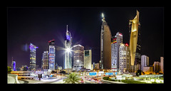 Sharq District Kuwait City (richieb56) Tags: kuwait city night building house haus gebäude stadt nacht lang long exposure belichtung reise travel public light licht beleuchtung farbe colour color panorama skyscraper wolkenkratzer hochhaus arabien arabic sharq holiday vacation ferien gut district quarter viertel car automobil auto life eastmaqwa الكويت منطقة الشرق ليل مدينة ضوء architecture architektur urban