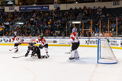 """Kansas City Mavericks vs. Cincinnati Cyclones, February 2, 2018, Silverstein Eye Centers Arena, Independence, Missouri.  Photo: © John Howe / Howe Creative Photography, all rights reserved 2018. • <a style=""""font-size:0.8em;"""" href=""""http://www.flickr.com/photos/134016632@N02/39407207204/"""" target=""""_blank"""">View on Flickr</a>"""