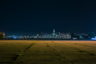 san francisco skyline from nas closed runway 07