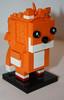 miles tails prower (My Mocs) Tags: sonic tails lego moc custom brickheadz brickhead withebackround
