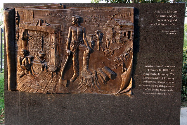 Lincoln Bas-relief scenes #1 - Louisville Waterfront Park