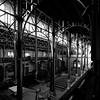 Trois vues de Paris aux abords de la tour Montparnasse II/III : l'église Notre-Dame-du-Travail... (stephane.desire) Tags: église carré noiretblanc métal fer paris ruevercingétorix arche