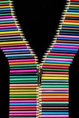 17.02.2018. Zip it up! (eronan) Tags: cobh cobhcameraclub competition colour pencils zip