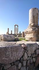 Roman Temple of Hercules (ameera_hasan1987) Tags: amman tour jabal jordan roman temple hercules