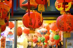 (FishRoast / 烤魚) Tags: taiwan changhua lukang night light red culture lantern colorful