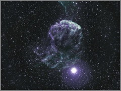 "The Jellyfish Nebula in Gemini (Lee ""Pulitzer"" Pullen) Tags: jellyfishnebula ic443 supernovaremnant zwoasi1600mmc skywatcherevostar80eddspro eq5 lightpollution cityastronomy cityastrophotography amateurastrophotography smalltelescope smallrefractor 80mmrefractor astrometrydotnet:id=nova2438948 astrometrydotnet:status=solved"
