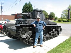Me at Aberdeen with one of my favorite tanks (1811/1812 USMC) Tags: tank tanks tanker turret track ww2 aberdeen maryland usarmy base museum german war weapon vehicle
