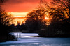 Sunset (Maria Eklind) Tags: sunlight ribban öresundsparken ice ribersborg winter sunset reflection himmel spegling sky outdoor solnedgång sweden malmö light skånelän sverige se