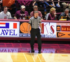 JERRY HEATER (SneakinDeacon) Tags: hokies vt vatech virginiatech louisville cardinals cards acc cassellcoliseum basketball referees