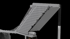 Yaw right (JSDBanner) Tags: strategic lego aircraft wip il76 transport airlifter white background city
