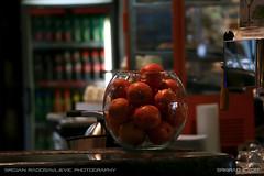 Orange bowl (srkirad) Tags: bowl glass orange oranges transparent restaurant caffe fridge drinks travel vienna wien austria hundertwasser hundertwasservillage