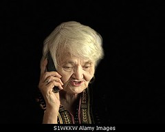 Photo accepted by Stockimo (vanya.bovajo) Tags: stockimo iphonegraphy iphone senior woman talking phone elderly female pensioner mobile smartphone portrait 80 year old alone one person adult ages