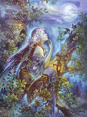 Forest dreamer  Nadezha Strelkina (DymphieH) Tags: postcards offer2018 fantasy blue moon owls