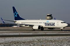 OK-TVM (Air Transat - TVS) (Steelhead 2010) Tags: airtransat travelservice boeing b737 b737800 yhm okreg oktvm