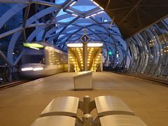 Empty (m_artijn) Tags: beatrix kwartier tram station den haag nl architecture modern night