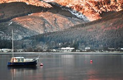 Kilmun (aolszewska81) Tags: kilmun landscape lake scotland highlands mountains mountainside nature boat