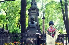 """Beauty will save the world"" ― Fyodor Dostoyevsky (Bojana Neskovic) Tags: russia cemetery tikhvincemetery literature russianliterature fyodordostoyevsky dostoyevsky"