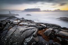 Stokksnes Lighthouse (Arnaud Grimaldi) Tags: stokksnes lighthouse iceland islande winter january long exposure ocean sunrise