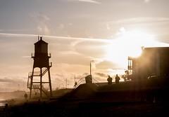 Not sepia 2 (MiguelHax) Tags: harwich dovercourt lighthouse sunset sea seaspray beach groyne silhouette