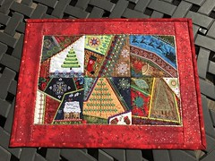 """Christmas Crazy Quilt (luvnlaff) Tags: """"goldlame'"""" christmas wallhanging crazyquilt machineembroidery mollymine"""
