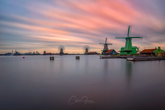 Historical Zaanse Schans (CG@Photography) Tags: long exposure landscape landmark holland nederland netherlands museum amsterdam amazing reflection region rotterdam architecture travel pier sunrise sunlight cloudsky