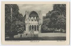 . (Kaïopai°) Tags: postkarte postcard ansichtskarte ruine heisterbach brunnen springbrunnen klosterruine kloster ruin park