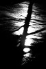 Shattered Light (callumggibson) Tags: blackandwhite nature blackcolor silhouette dark sea outdoors nopeople water backlit backgrounds landscape scenics shadow colorimage monochrome reflection tranquilscene sunlight