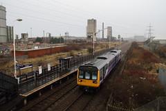 142092 South Bank, Teeside (Paul Emma) Tags: uk england teeside southbank railway railroad dieseltrain train 142092