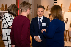 Toni Miszewska from AnTech Lted speaking with TEDxExeter team members Andy Robertson and Claire Kennedy at the TEDxExeter 2018 launch event at Royal Albert Memorial Museumat the TEDxExeter 2018 launch event at Royal Albert Memorial Museum (TEDxExeter) Tags: exeter tedxexeter tedx tedtalks exetercity devon ramm royalalbertmemorialmuseum technology entertainment design innovation speakers audience tedxexeter2018 tedxexeter2018launch tedxexeterlaunch sponsors crowd 2018 england eng