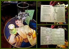 photo - Absinthe Bar, Antibes (Jassy-50) Tags: photo antibes absinthebar absinthe table menu barmenu collage triptych