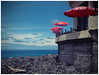 The Café at the End of the World (kurtwolf303) Tags: ocean sky cafe lokal sonnenschirme strand umbrellas coast küste portugal madeira olympusem1 omd microfourthirds micro43 systemcamera mirrorlesscamera mft kurtwolf303 clouds wolken landschaft landscape topf25 topf50 250v10f topf75