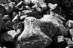 etched (RubyT (I come here for cameradarie)) Tags: adoxsilvermax100 pentaxlx fa43ltd rock etched etching черноеибелое bw nb bn noirblanc blancoynegro blackandwhite schwarzweiss mono monocromo monochrome rocks film analog