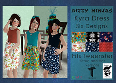 Dizzy Ninjas New Release: Kyra Dress (details below) (zonagrace) Tags: thimble dizzy ninjas kyra dress second life tweenster