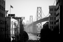 Paint the Town (Thomas Hawk) Tags: america baybridge california sfbayarea usa unitedstates unitedstatesofamerica westcoast architecture bridge bw fav10 fav25 fav50 fav100