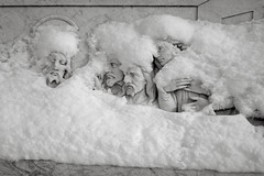The Last Supper, Portland (austin granger) Tags: lastsupper portland snow winter obscured cemetery religion catholicism film gw690