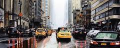 NEW YORK #53 (S©'rates) Tags: new york nyc rain street cars reflection enamel painting art arte cuadro pintura esmalte calle coches lluvia lluvioso