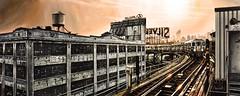 NEW YORK #54 (S©'rates) Tags: new york nyc subway line 7 train railway queens via tren metro sunset puesta sol atardecer