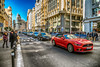 Red (mark.wagtendonk) Tags: madrid spain red mustang street day blue sky hdr photography car traffic people
