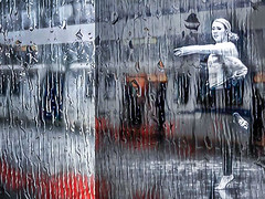 Dancing in the Rain- iPhone collage (gks18) Tags: iphone dancer rain vancouver circularapp goartapp pixlrapp collage transit train alteredreality